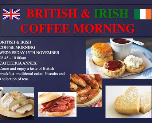 international school international coffee morning British coffee morning